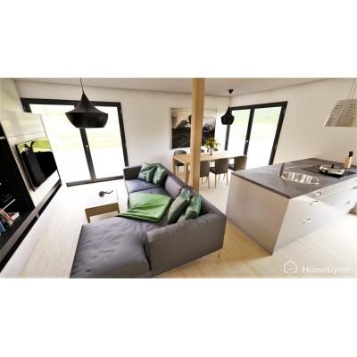 Modularno hišo, 3-sobno