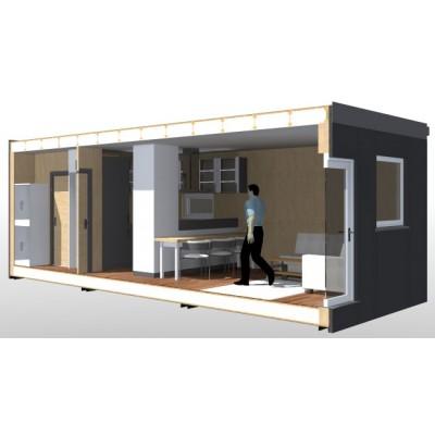 Modularna hiša, 1-sobno